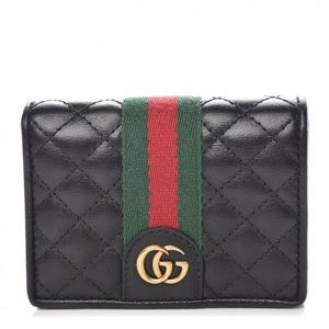 NEW GUCCI Black Quilted Leather Wallet